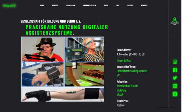 Screenshot diwodo-Website